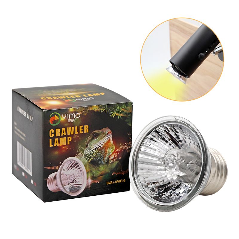 Reptile Lamp 25/50/75W UVA+UVB 3.0 Pet Heat Lamp Bulb Turtle Basking UV Light Bulbs Amphibians Lizards Temperature Controller