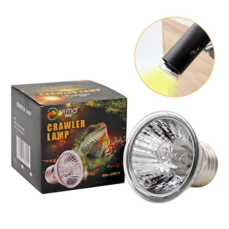 Reptile Lamp 25/50/75W UVA+UVB 3.0 Pet Heat Lamp Bulb Turtle Basking UV Light Bulbs Amphibians Lizards Temperature Controller