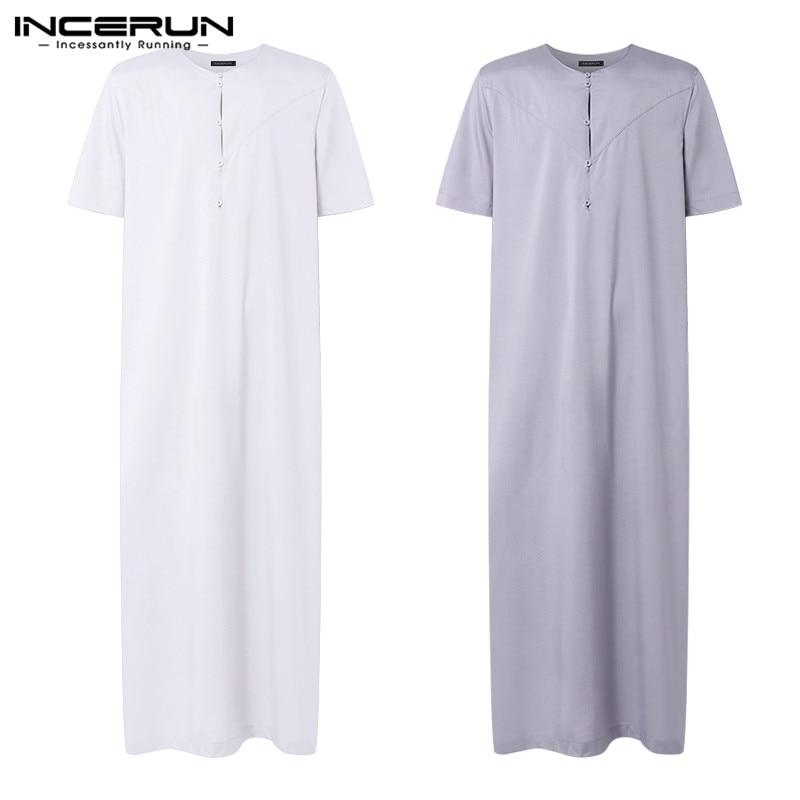 2020 Brand Pajama Dress Muslim Mens Robe Kaftan Dress Man Islamic Ropa Arabe Hombre Bathrobe Lounge Women Gown Arab Clothing