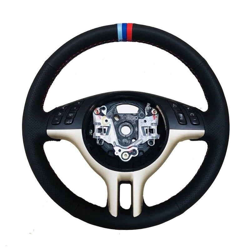 Couvre-volant latéral en cuir perforé m-color pour BMW E39 E46 1999-2003