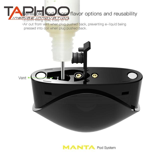 US $14 06 15% OFF Electronic Cigarette Taphoo X vape Pod system Cartridge  Fit for Easy Refilling Vaporizer vape e cig starter Kit-in Electronic
