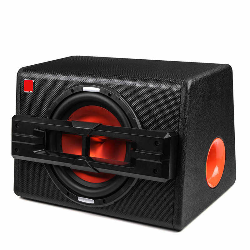 10 Inch 1200W Car Subwoofers Active Trapezoidal Overweight Car Audio Subwoofer Car Speakers Modified High Power Car Speaker Home
