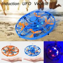 RCtown LED Mini Drone Vliegende Spinner Stress Vliegende Inductie RC Helicopter Funny Toy