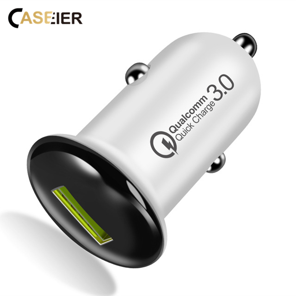 CASEIER Car-Charger Plus Samsung S10 IPhone X XS Qc 3.0 USB For Max-Xr Cargador S9 S8