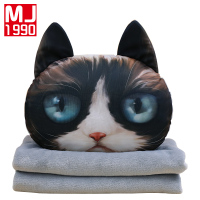 New Creative Cat Cushion Blanket Personality 3D Pillow Car Cushion Cushion Blanket Lovely Cushion Birthday Present 1PCS