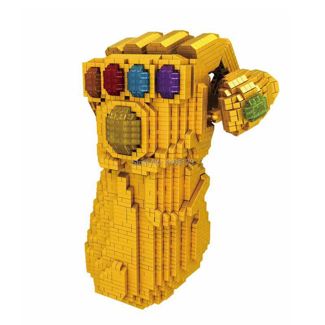hot LegoINGlys Marvel Super hero Avengers Thanos Infinity Gauntlet gem micro diamond building blocks model MOC bricks toys gift in Blocks from Toys Hobbies