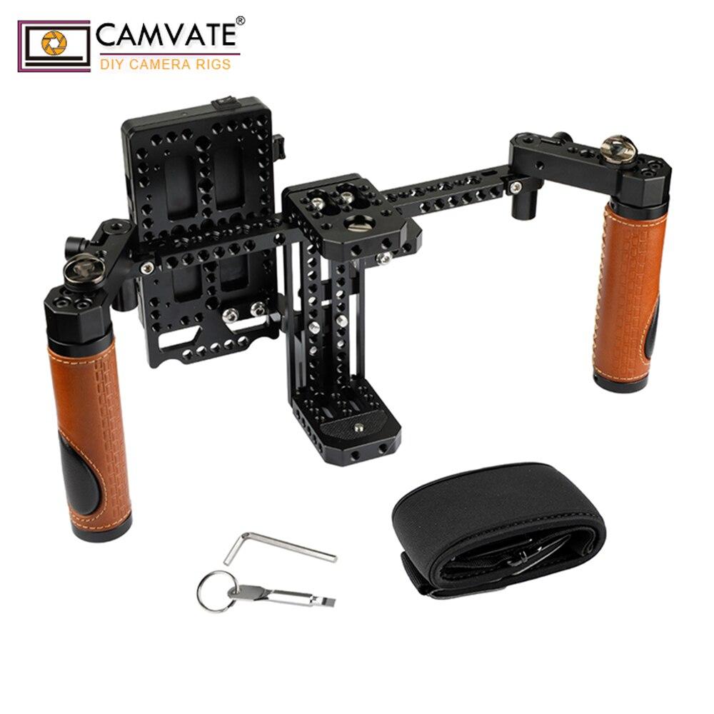 Câmera Monitor do Diretor CAMVATE Rig Gaiola Com Alça Apertos & Neck Strap C1946