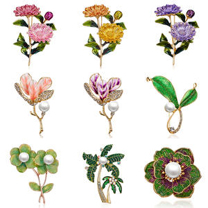 RINHOO Pink Daisy Bouquet Enamel Brooches Metal Flowers Weddings Banquet Brooch Pins For Women And Men