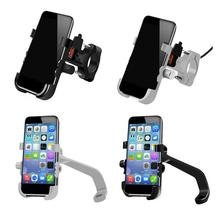 Motorcycle Mobile Phone Holder Aluminum Alloy Waterproof Adjustable Navigation Frame Buckle Type Quick Charging Induction Stand
