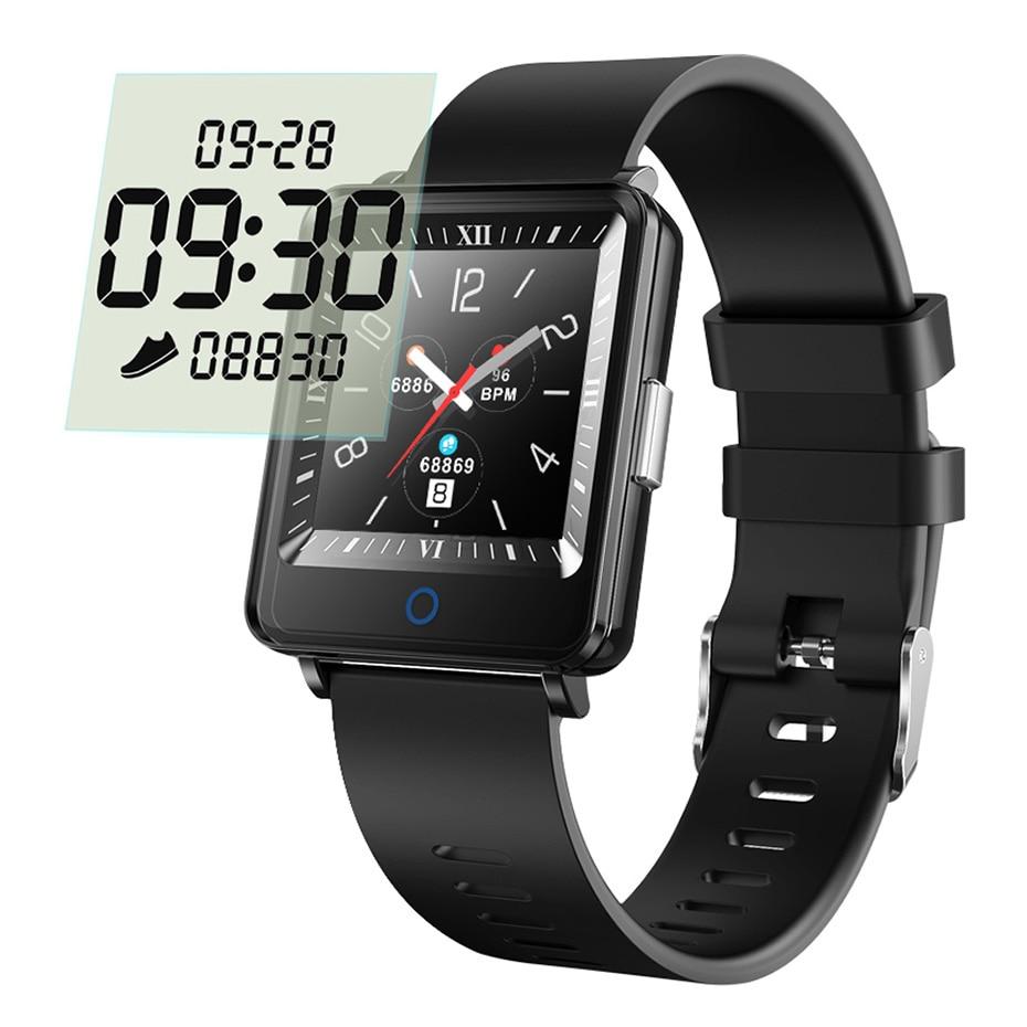 Colme de CV16 Dual inteligente de pantalla reloj hombres reloj IP67 impermeable actividad Fitness Tracker Smartwatch para android IOS