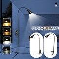 뜨거운 판매 실내 조절 가능한 높이 플로어 램프 led 라이트 클램프 dimmable 독서 데스크탑 램프 삼각대 스터디 룸 eu/us 플러그-에서바닥 램프부터 등 & 조명 의