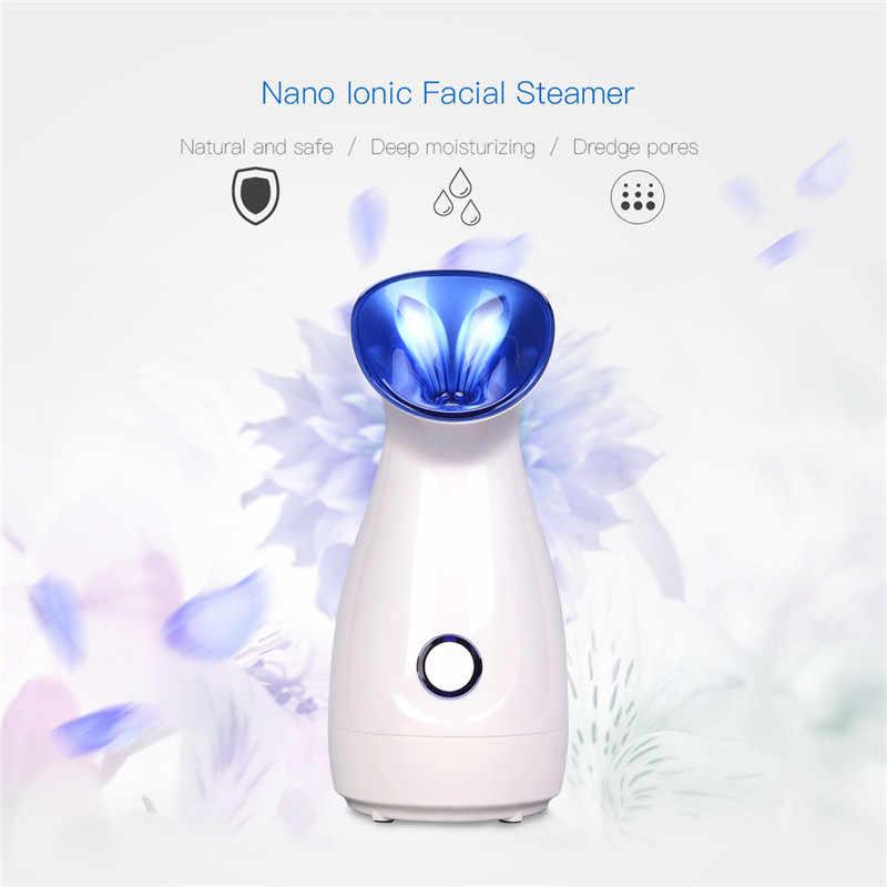 Nano İyonik yüz buhar makinesi Sıcak Mist Nemlendirici Yüz Temizleme Gözenekleri Yüz Vapur Püskürtücü Cilt Beyazlatma Güzellik Salonu Aracı