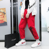 2019 Spring New Youth Japanese Trousers Trend Loose Sports College Wind Big Size Men's Casual Pants Party Travel