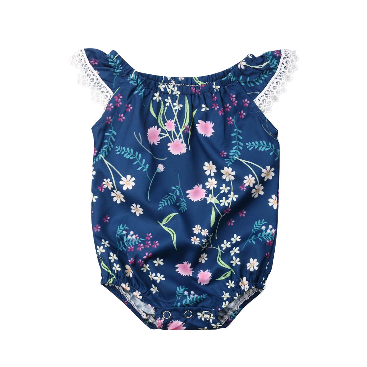 0-18M Cute Newborn Baby Girl Fly Sleeve Floral   Romper   Jumpsuit Playsuit Outfits Summer Sunsuit Clothes
