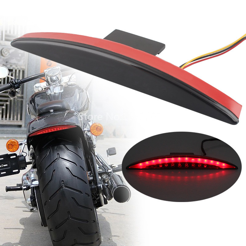 Motorcycle Rear Fender Edge LED Brake Tail Light Fits For Harley Breakout FXSB 2013-2017