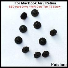Faishao New SSD Hard Drive / WiFi Card Torx T5 Screw For Apple Macbook Air / Retina A1369 A1370 A1465 A1466 A1398 A1425 A1502 100pcs lot new keyboard screws for macbook air pro retina a1369 a1466 a1370 a1465 a1278 a1286 a1297 a1425 a1502 a1398