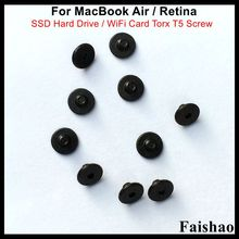 все цены на Faishao New SSD Hard Drive / WiFi Card Torx T5 Screw For Apple Macbook Air / Retina A1369 A1370 A1465 A1466 A1398 A1425 A1502 онлайн