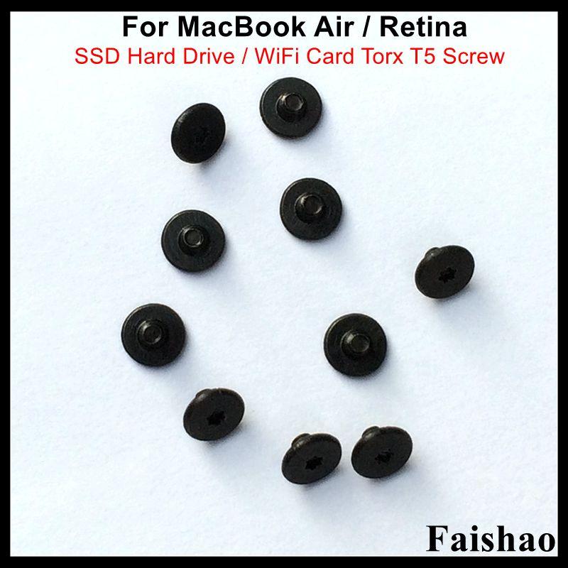 Faishao Новый SSD жесткий диск/WiFi карты Torx T5 винт для Apple Macbook Air/retina A1369 A1370 A1465 A1466 A1398 A1425 A1502