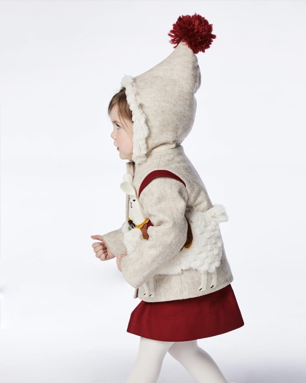 Kids Velvet Jacket Winter Boys Girls Cute 3D Alpaca 1