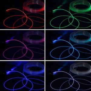 1 шт. PMMA 1 м боковой светящийся оптоволоконный кабель 1,5/2/3/4 мм диаметр для автомобильных светодиодных ламп яркое боковое свечение 650дб/км волоконно-оптический кабель