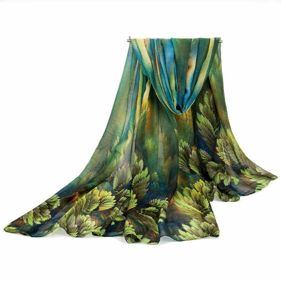 Banana de moda Coral impresiones bufanda de lino algodón flecos largo grande de gran tamaño chal Pashmina para viajes de playa Pareo