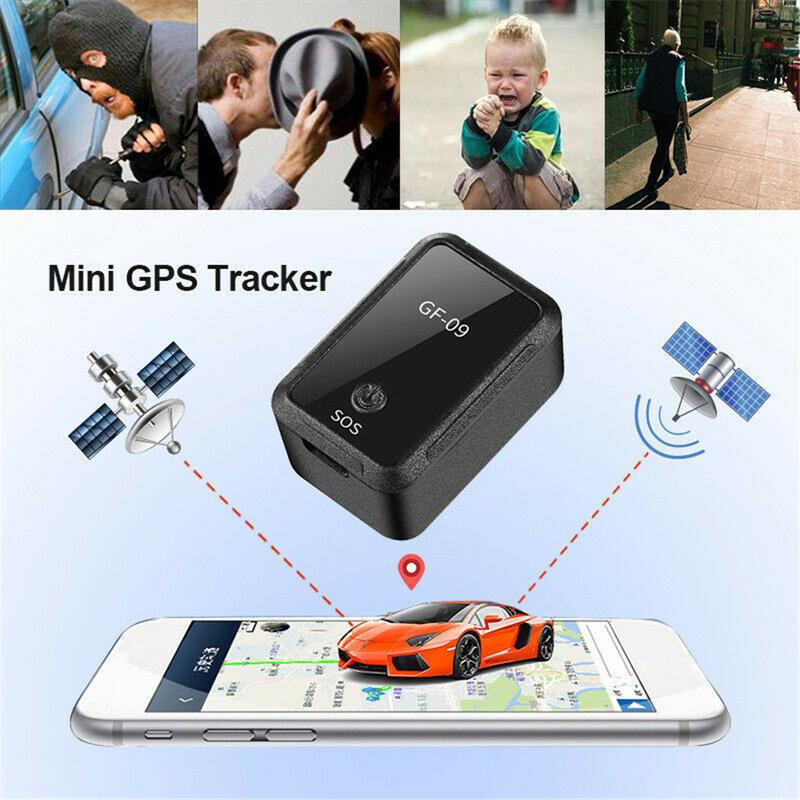 US $14 01 15% OFF|Mini Car APP GPS Locator Adsorption Recording Anti  dropping Device Voice activated Recording Real time Tracking Equipment  GF09-in