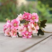 Autumn Cherry Blossom Table Coffee Corsage Garden Little Daisy Flowers 21 Head Jump lan ju Bouquet Manufacturer Direct Sil