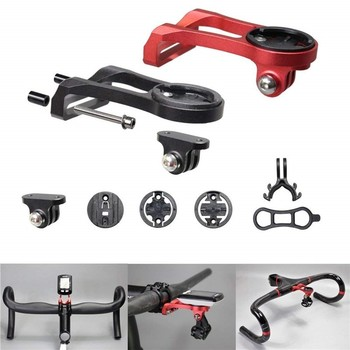 b03acb770 Manillar de bicicleta computadora soporte de bicicleta de aleación de  aluminio de cronómetro odómetro soporte de montaje soporte para Garmin  Gopro montaje ...