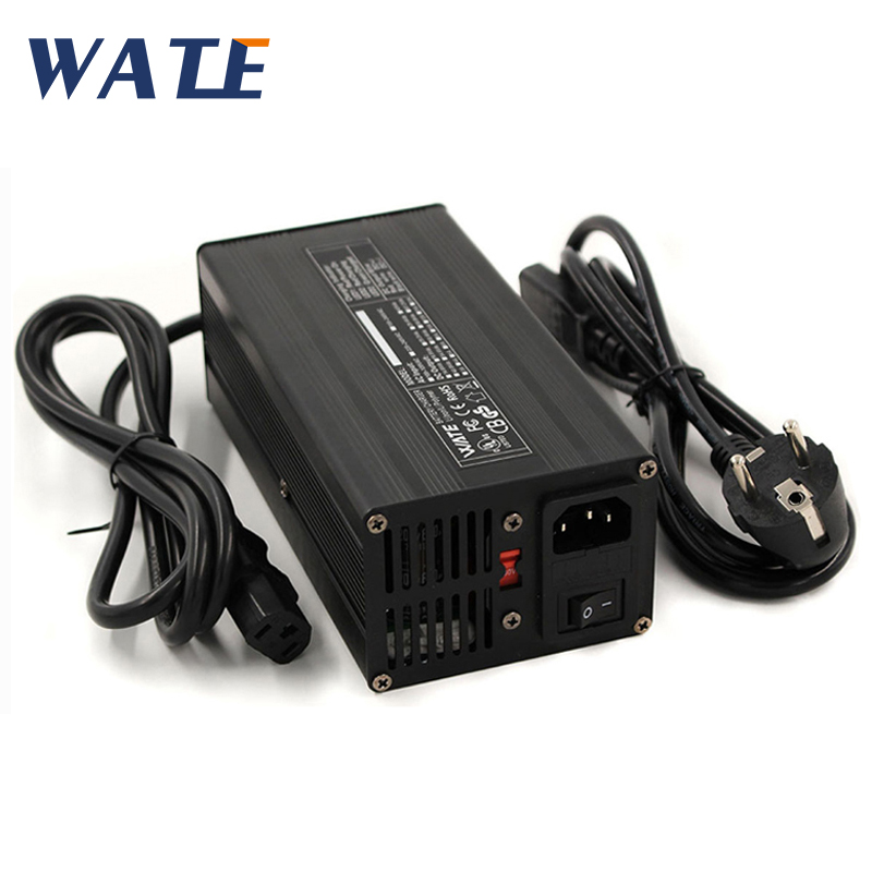 43.8V 8A Charger 36V LiFePO4 Battery Smart Charger Used for 12S 36V LiFePO4 Battery High Power With Fan Aluminum Case|Chargers| |  - title=
