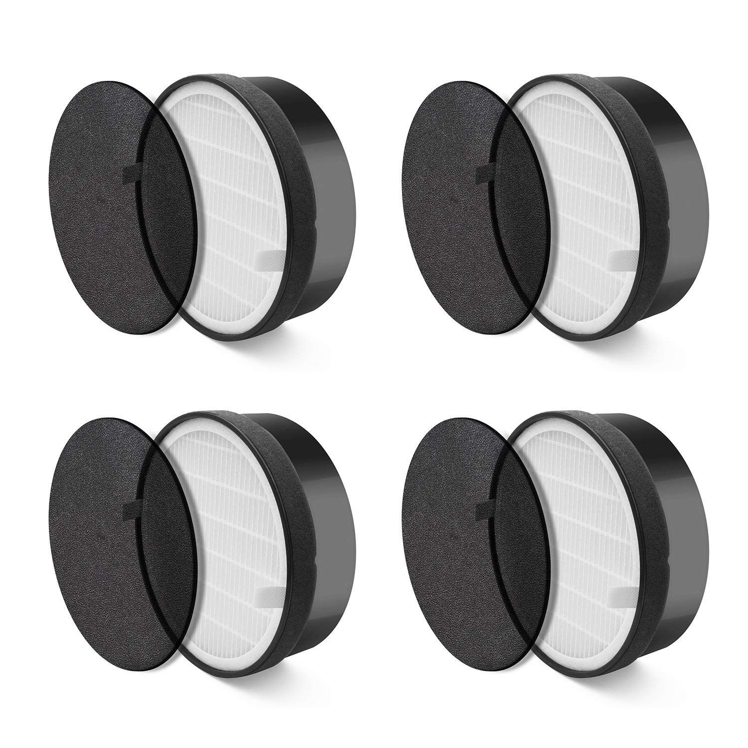 Air Purifier LV-H132 Replacement Filter (4 Pack) True HEPA/Activated Carbon Filter  Fine PreliminaryAir Purifier LV-H132 Replacement Filter (4 Pack) True HEPA/Activated Carbon Filter  Fine Preliminary