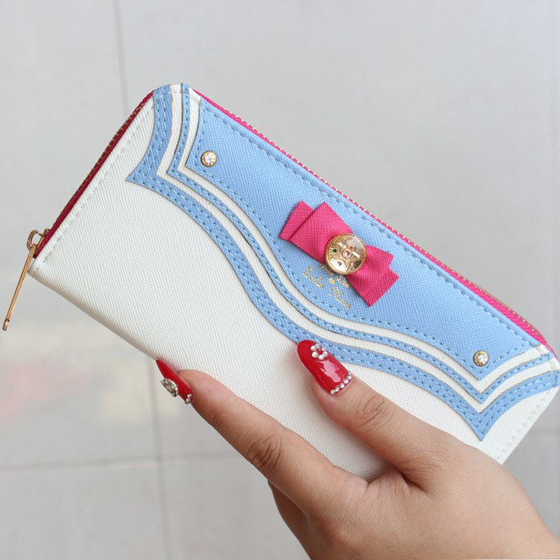 Japanese films Sailor Moon  The same periphery  Sailor Moon Butterfly Wallet Long zipper lady bag Gifts for children billetera sailor moon