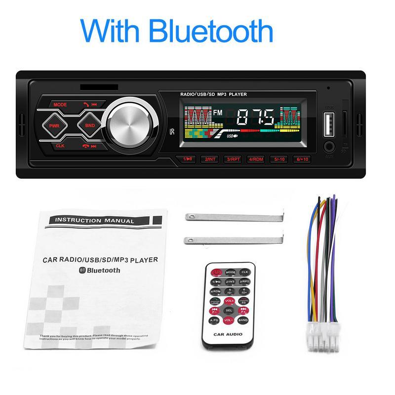 Bluetooth Car Stereo Audio In-Dash FM Aux Input Receiver SD USB MP3 Radio Player