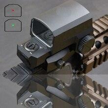 Mira para rifle lp vermelho 8, escopo de montagem de trilho para caça com reflexo configurações de iluminação, escopo