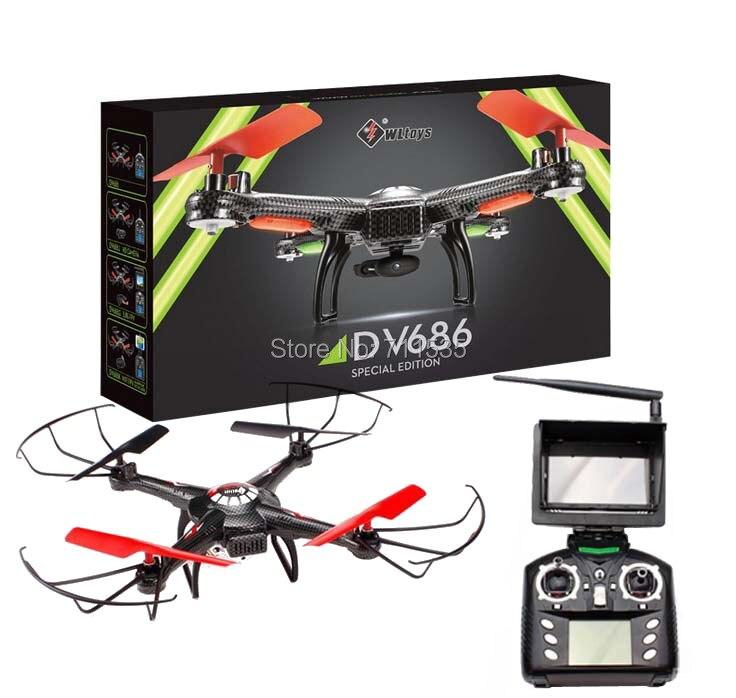 Oyuncaklar ve Hobi Ürünleri'ten RC Helikopterler'de WLToys V686G FPV Drone 2.4G 4CH 5.8G FPV rc dört pervaneli helikopter HD Kamera Ile Bir anahtar dönüş Başsız Modu Helikopter siyah'da  Grup 1