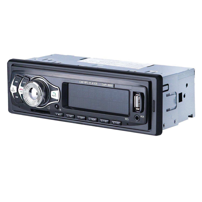 Stereo Radio Bluetooth In-Dash Head Unit Player Fm Mp3/Usb/Sd/Aux For Ipod