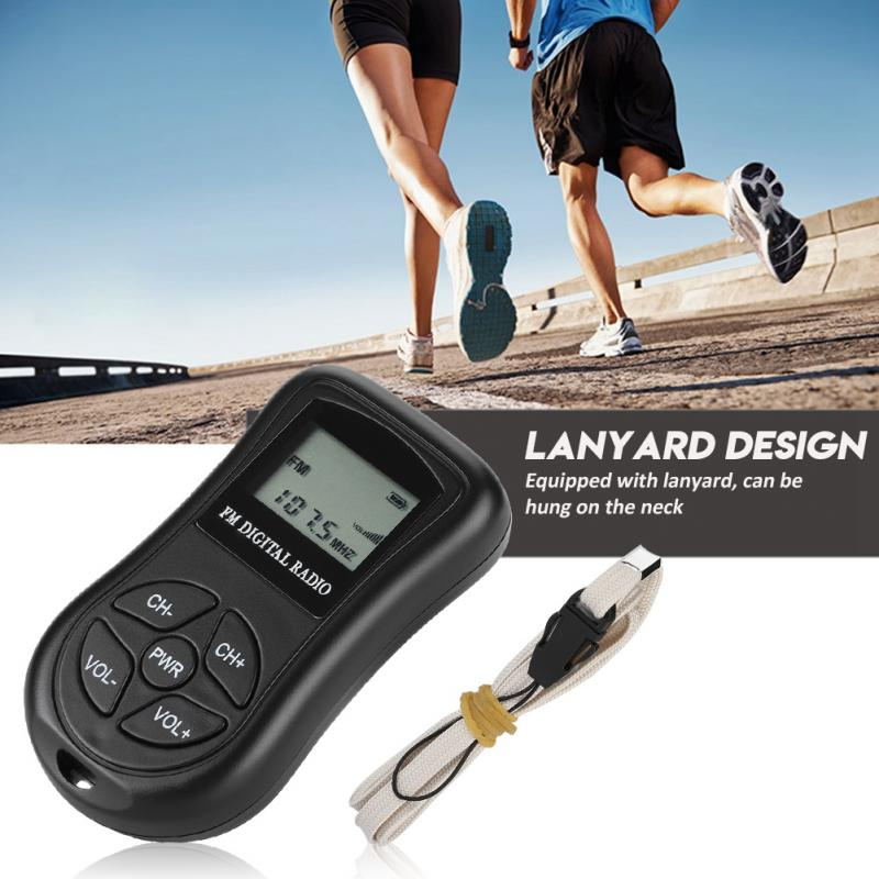 Tragbares Audio & Video Unterhaltungselektronik 1,15 Zoll Lcd Display Persönliche Mini Digital Radio Mit Kopfhörer Lanyard Tragbare Digitale Radio
