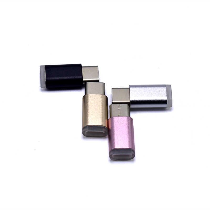 Digital Data Usb Mikro Perempuan untuk Tipe-C USB 3.1 Male Data Konektor Adaptor untuk OnePlus 2 Notebook PC USB TYPE C Port