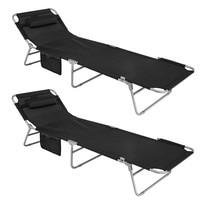 SoBuy® OGS35 SCHx2 Set of 2 Outdoor Garden Patio Beach Deck Chair Textilene Reclining Folding Adjustable Camping Sun loungers