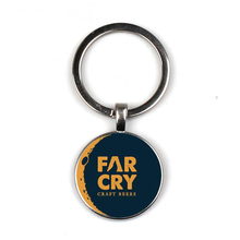 Keychain Glass Time Gem Key Jewelry DIY Custom Photo Personality Gift personalized Keychains gifts for men Far Cry game