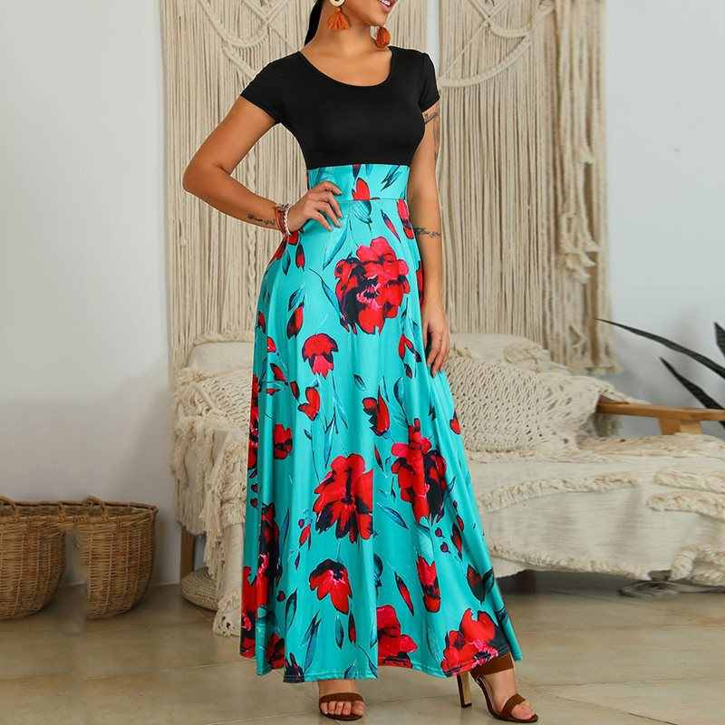 Summer Floral Long Dress Women 2019 New French Elegant Romantic Pink Sexy High Waist Boho Holiday Beach Robe Casual Maxi Dresses
