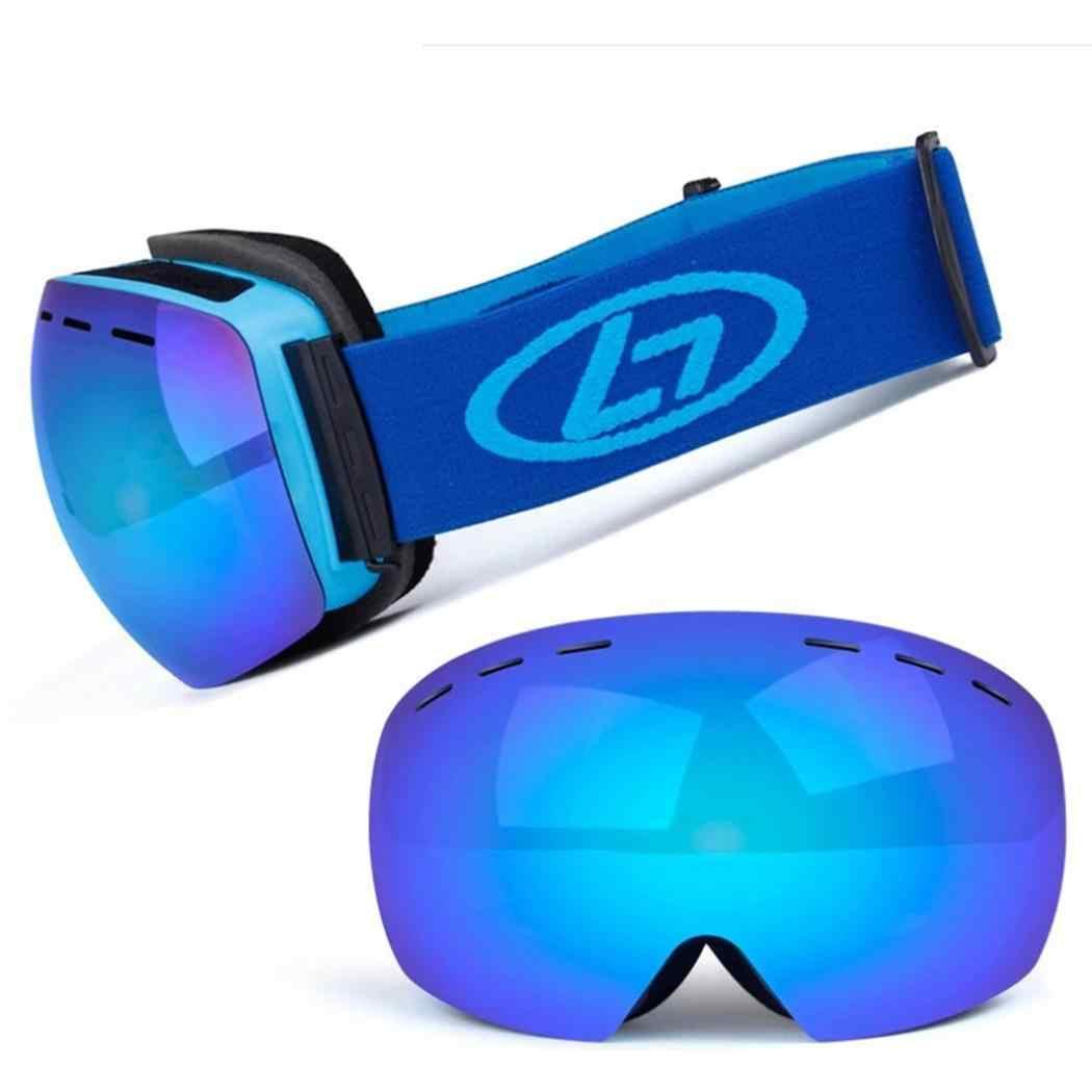 Parabrisas Unisex Snowboard doble capa Anti-niebla actividades al aire libre gafas de esquí gafas de montaña