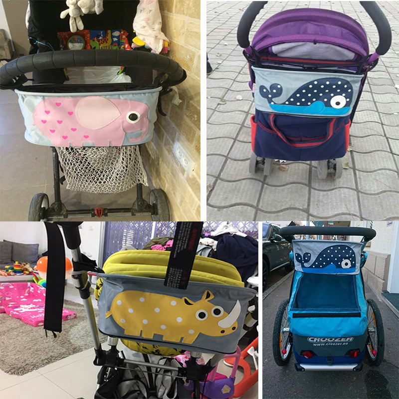 Mommy Diaper Nappy Convenient Baby Carrier Hanging Carriage Travel Buggy Cart Bottle Stroller accessories Waterproof Holder Bag