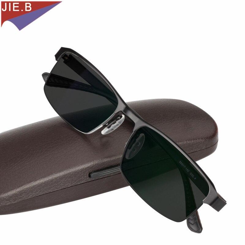 Gafas de sol de aleación de titanio con lentes de lectura fotocrómicas de transición para hombres con presbicia de hiperopía con gafas de presbicia