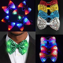 9347f42fbc2b LED Flashing Light Up Sequin Bowtie Necktie Mens Boys Party Bow Tie Wedding  Ties Holiday Party