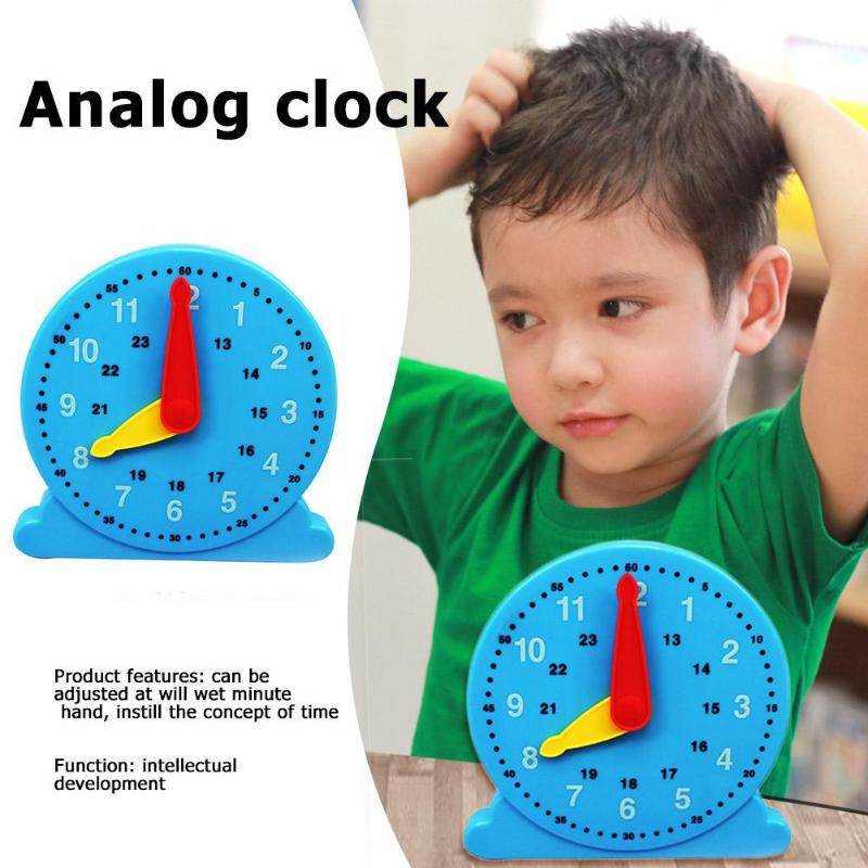 Analog ​Clock Toy Hands Adjustable Time Learning Kids Education Toy Gifts Time Clock Toy
