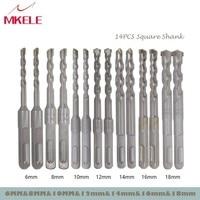 Wood Drill Bit 14Pcs/Set Twist Metal 40CR Chrome vanadium Steel Drilling Woodworking 6/8/10/12/14/16mm Herramientas Power Tools