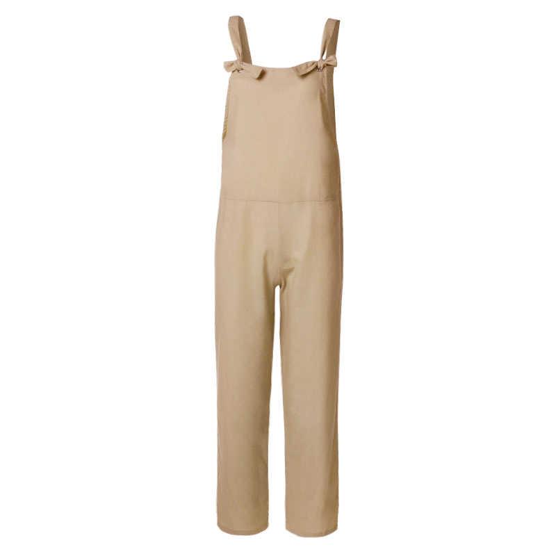 e8fa7fd25ae ... ZANZEA Ladies Linen Overalls 2018 Vintage Casual Dungarees Jumpsuits  Women Long Rompers Female Harem Pants Trousers ...