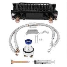 Масляный радиатор для мотоцикла, прочные детали, масляный радиатор для мотоцикла, масляный радиатор для охлаждения, комплект системы для Honda CB CG 100CC-250CC