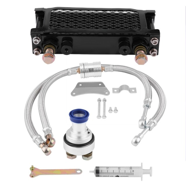 US $48 97 28% OFF|Motorcycle Oil Cooler Durable Parts Motorcycle Engine Oil  Cooler Oil Cooling Radiator System Kit for Honda CB CG 100CC 250CC-in