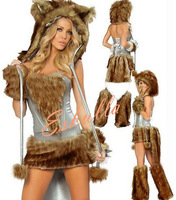 Eskulla Halloween Christmas Cat Girl Temptation Costume Apparel Uniform Cosplay Set Party Club PU Leather Faux Fur Clothing